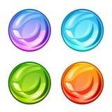 Gotas brilhantes coloridas ajustadas Fotografia de Stock