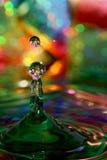 Gotas coloreadas imagen de archivo libre de regalías