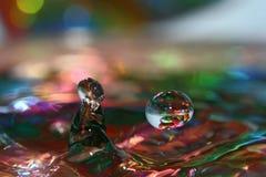 Gotas coloreadas foto de archivo