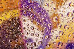 Gotas coloreadas del agua Imagen de archivo