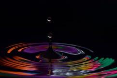 Gotas coloridas Imagem de Stock