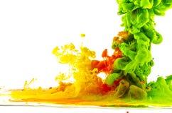Gotas coloridas abstracção Foto de Stock