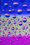 Gotas coloridas da água Fotografia de Stock Royalty Free