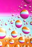 Gotas coloridas da água Imagens de Stock Royalty Free