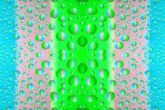 Gotas coloridas da água Foto de Stock Royalty Free