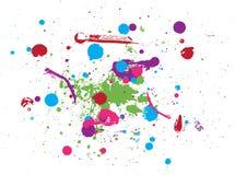Gotas coloridas de la pintura Fotos de archivo libres de regalías