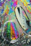 Gotas coloridas del agua congelada Imagen de archivo libre de regalías