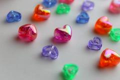 Gotas coloridas del corazón Imagenes de archivo