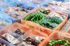 Gotas coloridas en cajas Foto de archivo libre de regalías
