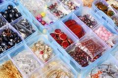 Gotas coloridas en cajas Imagen de archivo libre de regalías