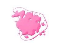 Gotas cor-de-rosa do verniz para as unhas Imagens de Stock Royalty Free