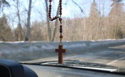 Gotas cristianas del rosario Fotos de archivo libres de regalías
