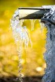 Gotas da água após a aproximação amigável Fotos de Stock Royalty Free