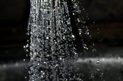 Gotas da água com borrão fotografia de stock