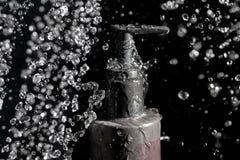 Gotas da água de termas Fotografia de Stock