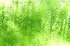 Gotas da água em um indicador Imagens de Stock Royalty Free
