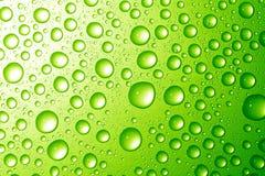 Gotas da água na superfície metálica Fotografia de Stock