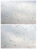 Gotas da água no branco Fotos de Stock Royalty Free