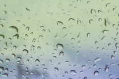 Gotas da água no vidro Imagens de Stock Royalty Free