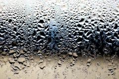 Gotas da água no vidro Fotos de Stock Royalty Free