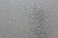 Gotas da água no vidro geado Imagens de Stock Royalty Free