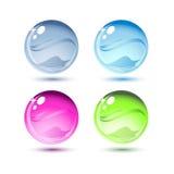 Gotas da água, vetor Foto de Stock Royalty Free