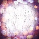 Gotas da chuva em um vidro Fotografia de Stock