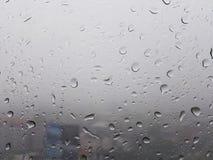 Gotas da chuva na janela Fotos de Stock