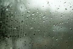Gotas da chuva na janela Imagem de Stock Royalty Free