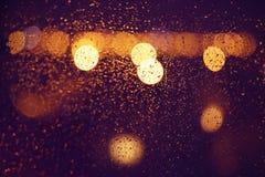 Gotas da chuva na janela Imagens de Stock