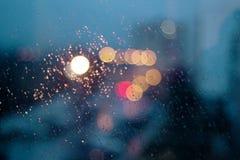 Gotas da chuva no indicador Imagens de Stock Royalty Free
