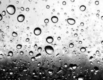 Gotas da chuva no plástico Fotos de Stock Royalty Free