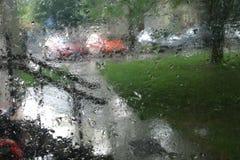 Gotas da chuva no vidro Foto de Stock