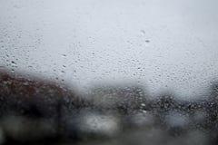 Gotas da chuva no vidro do carro Foco macio ilustração royalty free