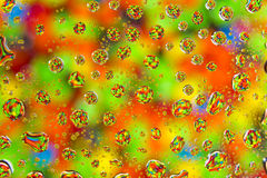 Gotas da cor Foto de Stock