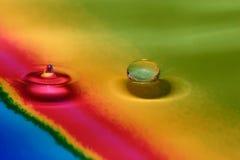 Gotas da cor da dança Foto de Stock