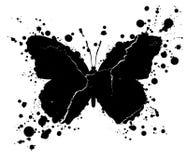 Gotas da forma e da pintura da borboleta do Grunge chapinhadas ilustração royalty free