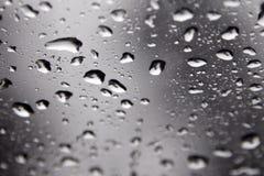 Gotas da água em um indicador Imagens de Stock