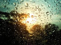 Gotas da água no vidro Imagem de Stock