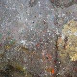 Gotas da pintura no asfalto Fotografia de Stock