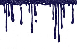 Gotas da tinta Imagens de Stock