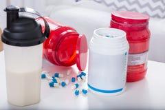 Gotas das proteínas imagem de stock