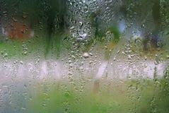 Gotas de água no vidro Foto de Stock Royalty Free