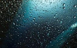 Gotas de água no vidro Foto de Stock