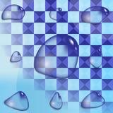 Gotas de água realísticas Fotografia de Stock