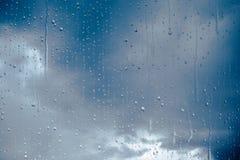 Gotas de agua de la ventana Imagen de archivo
