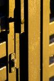 Gotas de agua en la puerta del oro Foto de archivo libre de regalías