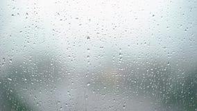 Gotas de agua en la ventana almacen de metraje de vídeo