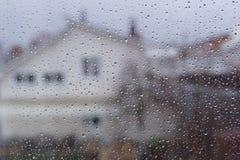 Gotas de agua en la ventana Imagen de archivo libre de regalías