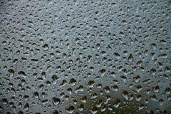 Gotas de agua en ventana Foto de archivo libre de regalías